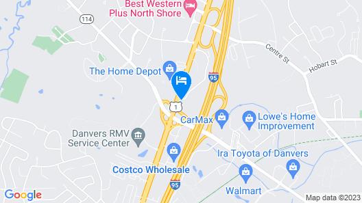 Motel 6 Danvers, MA - Boston North Map