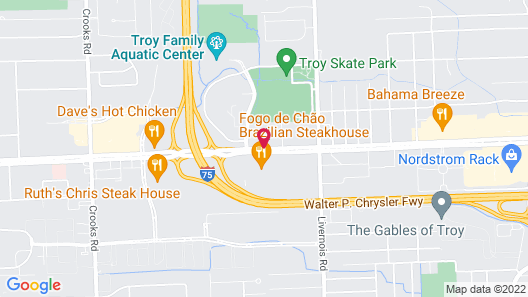 Detroit Marriott Troy Map