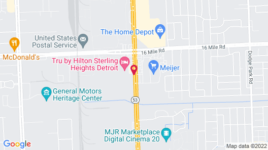 Tru by Hilton Sterling Heights Detroit Map