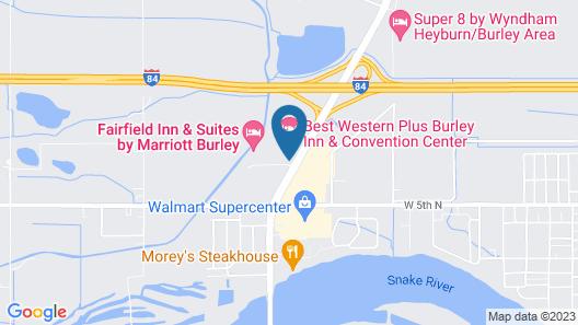 Best Western Plus Burley Inn & Convention Center Map