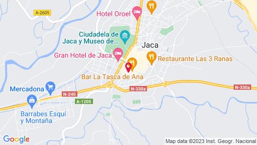 Hotel Alda Jolio Jaca Map