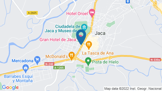 Gran Hotel De Jaca Map