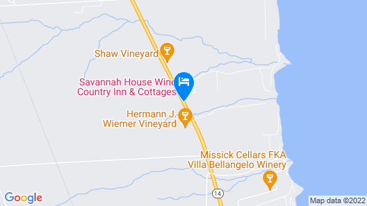 Savannah House Wine Country Inn & Cottages Map