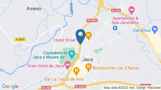 Hotel Oroel Map