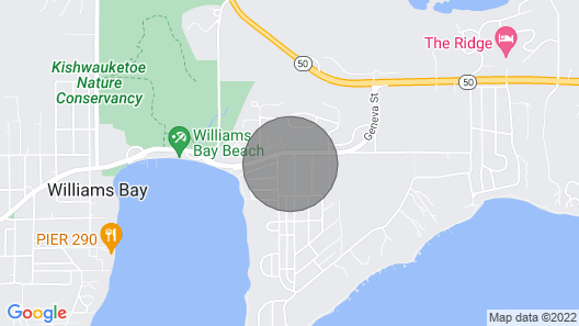 Cozy Cabin in Williams Bay Map