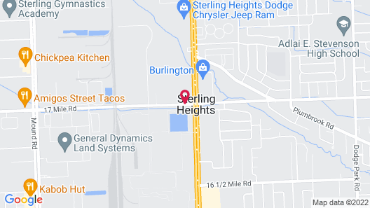 Knights Inn Sterling Heights Map