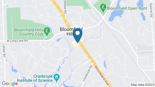 DoubleTree by Hilton Bloomfield Hills Detroit Map