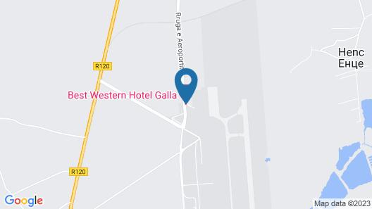 Best Western Hotel Galla Map