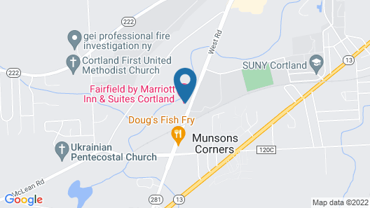 Fairfield by Marriott Inn & Suites Cortland Map
