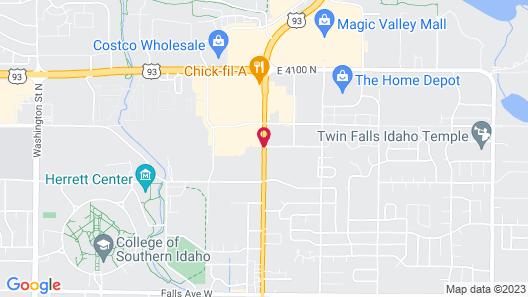 Best Western Plus Twin Falls Hotel Map