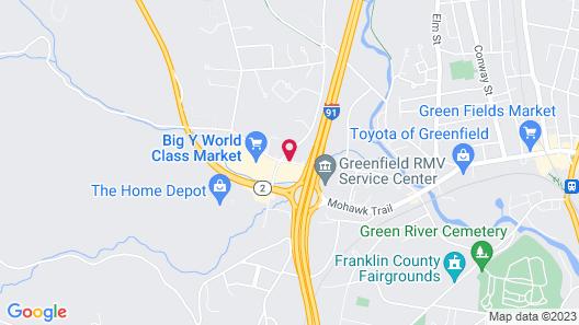 Hampton Inn & Suites Greenfield Map