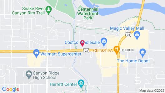 Hilton Garden Inn Twin Falls Map