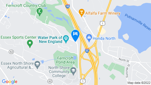 DoubleTree by Hilton Boston North Shore Map