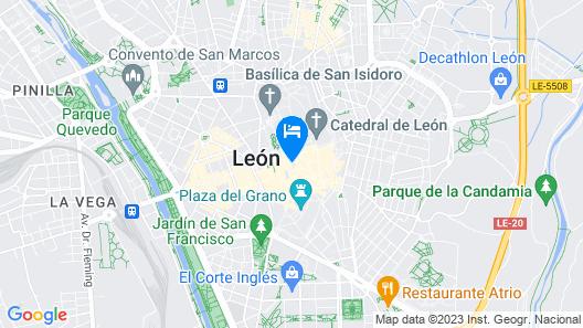 Hotel Alda Vía León Map