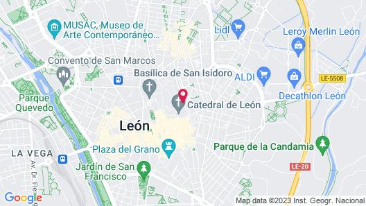 Hotel SPA QH Centro Leon Map