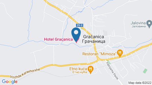 Hotel Gracanica Map