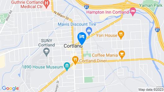 Econo Lodge Cortland Map