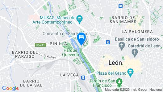 Parador de León Map