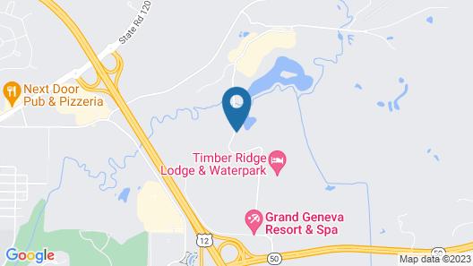 Timber Ridge Lodge and Waterpark Map
