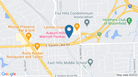 Auburn Hills Marriott Pontiac Map