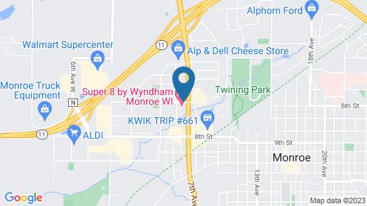 Super 8 by Wyndham Monroe WI Map