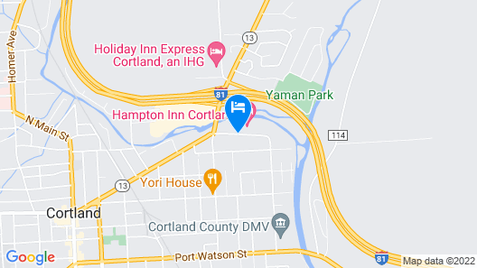 Hampton Inn Cortland Map