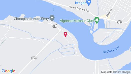 The Harsens Island Getaway Resort Map