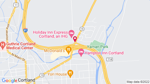 Clarion Inn & Suites - University Area Map