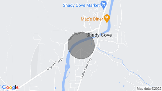 Shady Cove River House -fly Fish, Raft, Hike or Just Relax Map