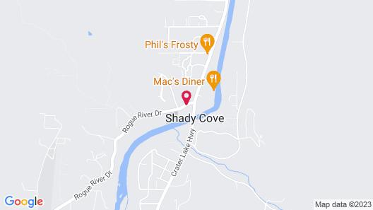 Edgewater Inn Shady Cove Map