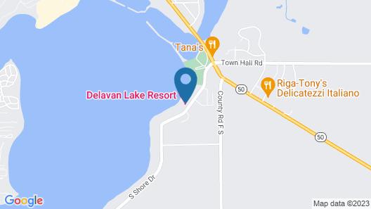 Delavan Lake Resort Map
