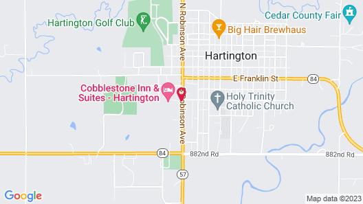 Cobblestone Inn & Suites - Hartington Map