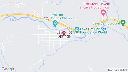 The Suites of Lava Hot Springs Map
