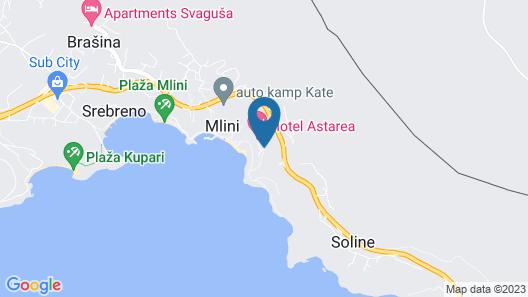 Hotel Mlini Map