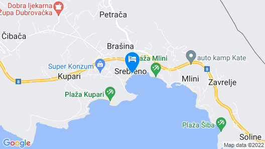 Sheraton Dubrovnik Riviera Hotel Map