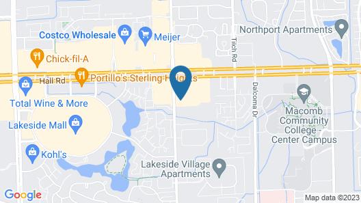 Hilton Garden Inn Detroit/Utica, MI Map