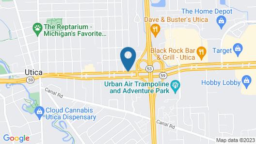 Comfort Inn Utica Map