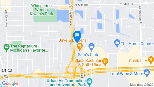 Courtyard by Marriott Detroit Utica Map