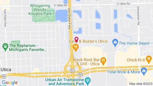 Staybridge Suites Detroit-Utica, an IHG Hotel Map