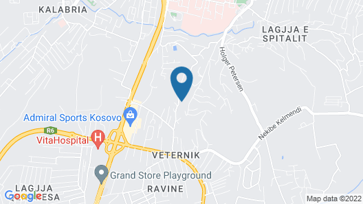 Hotel International Prishtina Map