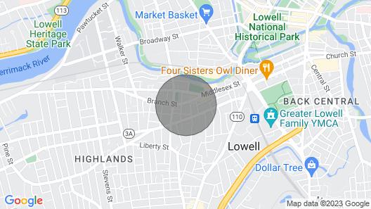 Location Location .04 Mile City Center 5br/1 Full Baths, Wifi, Netflx-freepark Map
