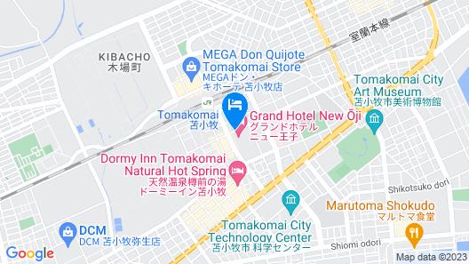 Grand Hotel New Oji Map