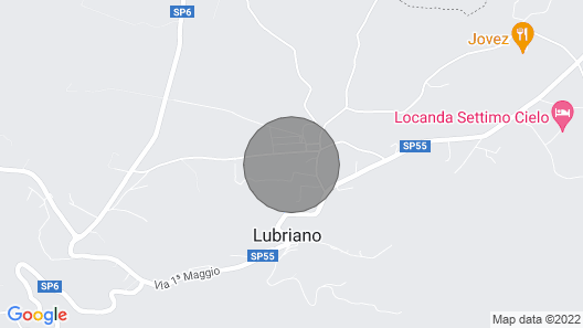 Detached house with private pool near Bolsena and Orvieto. Map