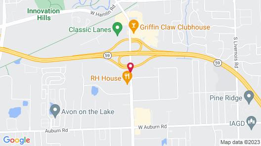 Red Roof Inn Detroit-Rochester Hills/ Auburn Hills Map