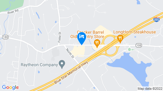 Fairfield Inn by Marriott Boston Tewksbury/Andover Map