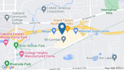 WoodSpring Suites Detroit Rochester Hills Map
