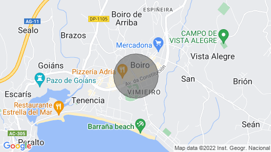 Flat in the center of boiro Map