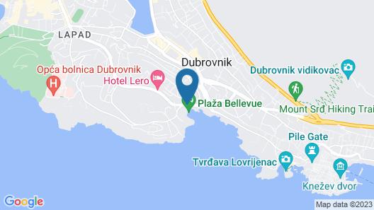 Hotel Bellevue Dubrovnik Map
