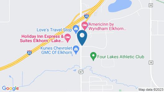Holiday Inn Express & Suites Elkhorn - Lake Geneva Area, an IHG Hotel Map