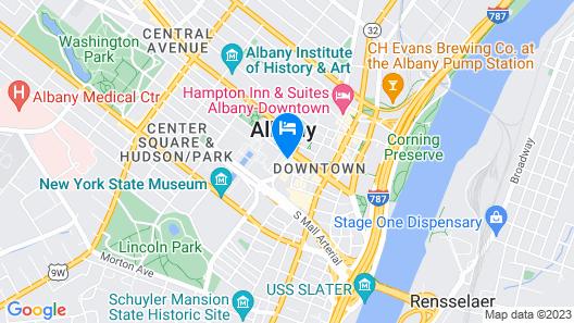Renaissance Albany Hotel Map
